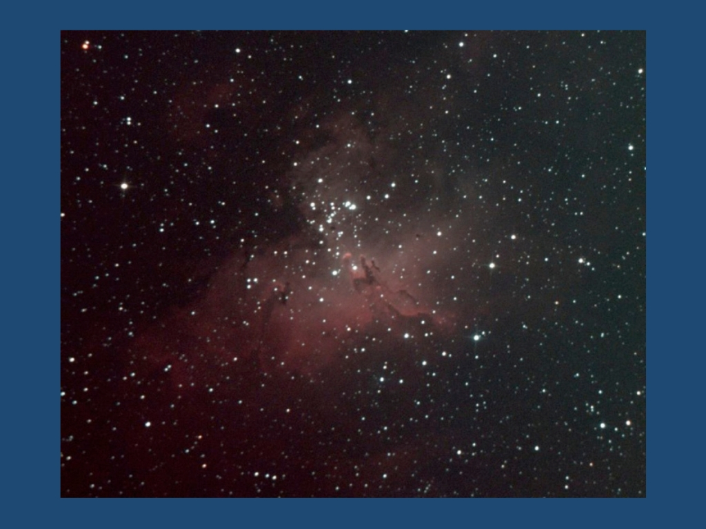 The Eagle Nebula. Astronomy is one of the few examples where signal versus noise matters.