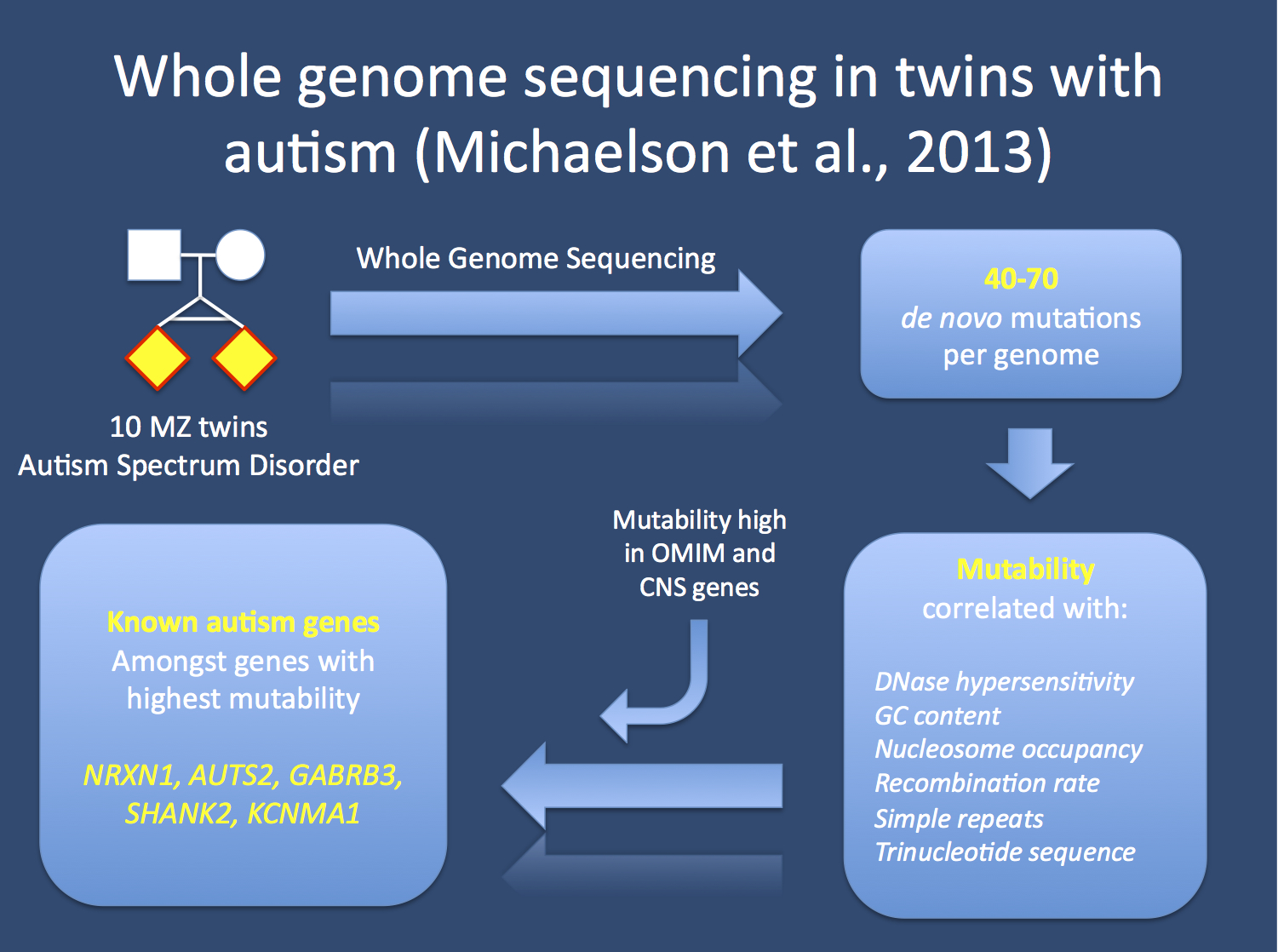 autism and genetics In a study sponsored by medgenics, inc, researchers investigated rates of  mutations in glutamatergic network genes in 1,013 adhd patients.